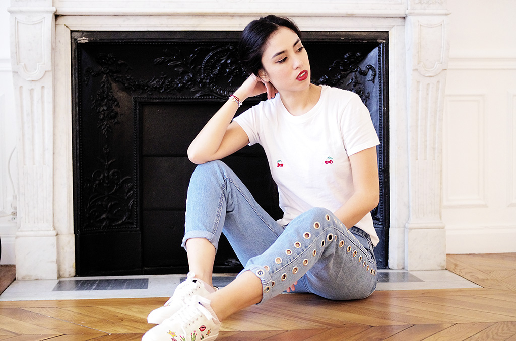 Cherry on top outfit l blog mode Brandy Melville Pull & Bear Mr Monkies l THEDEETSONE l http://thedeetsone.blogspot.fr