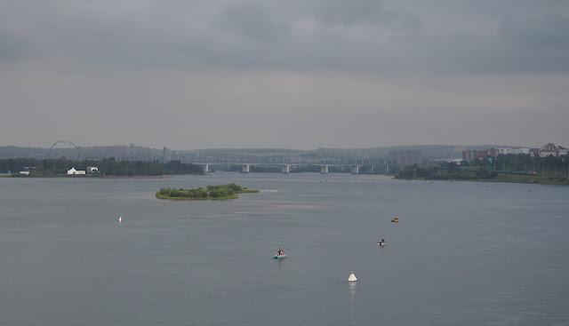 Иркутск, Ангара - вид с моста