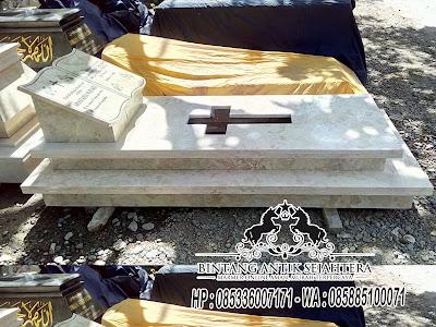 Makam Marmer Minimalis, Makam Kristen Minimalis, Model Kijing Makam Kristen