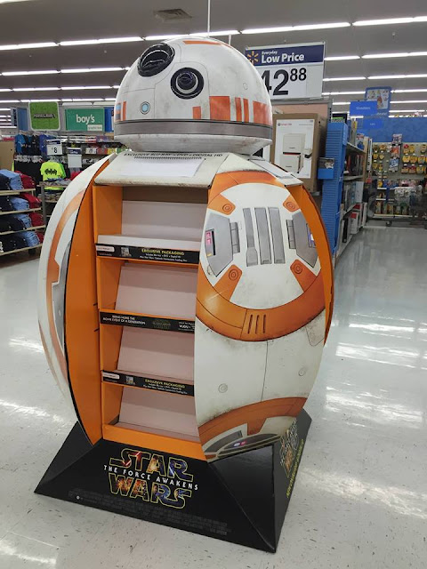 Wal-Mart BB-8 droid Display Stand shelf charity livestream prize Star Wars The Force Awakens
