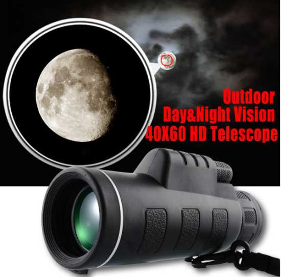Telescope Monocular 80X100 Optical HD Lens Powerful Zoom Clip Tripod for smartphone