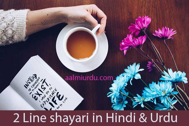 2 line shayari in hindi and urdu, 2 line poetry, 2 line shayari