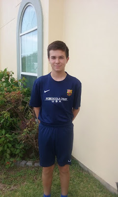 Congratulations to Luis Enrique Hinojosa of Laredo, Texas, who was chosen by the FC Barcelona Coaches Arnau
