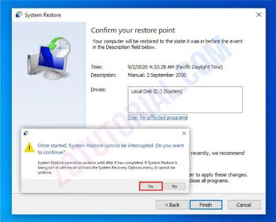 Cara Menggunakan System Restore Di Windows 10, 8, 7 Lengkap