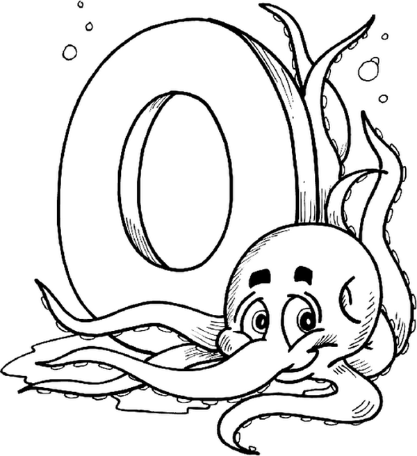 alphabet o coloring pages - photo#1