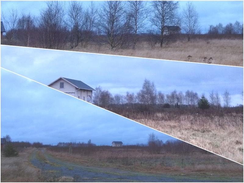 domek drewniany zima