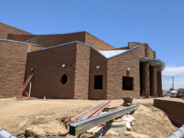 Another photo that I took of the new Performing Arts Center currently under construction at Bishop Amat Memorial High School...on June 9, 2021.