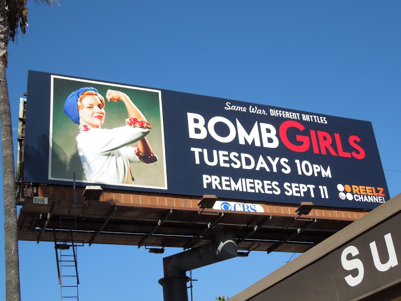 Bomb Girls season 1 billboard Sunset Boulevard