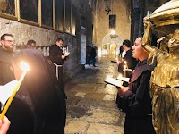 The Daily Procession at the Holy Sepulchre in Jerusalem
