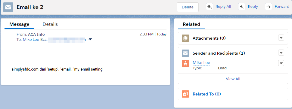 SimplySfdc com: Salesforce: Enhanced Email & Email Tracking