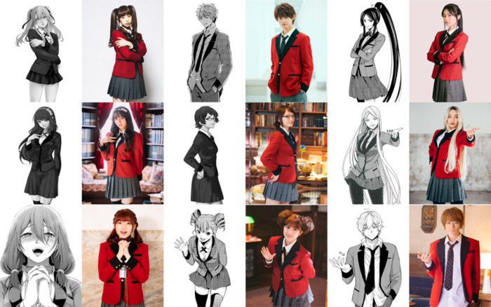Kakegurui Twin live-action dorama - reparto