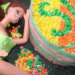 Slag adult only barbie vomit cake inspo DIY tutorial