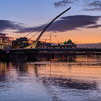 Dublin pictures: Sunset over the River Liffey