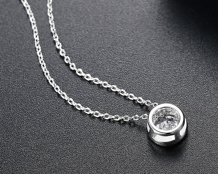 1克拉單鑽式鋯石鎖骨鍊