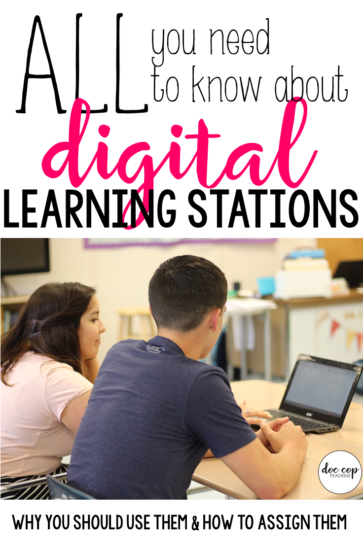 I love using learning stations as an engaging activity to get students up and moving around the classroom while targeting specific and focused objectives. Digital learning stations make this activity even better! Read on to learn how to facilitate digital learning stations in your classroom.