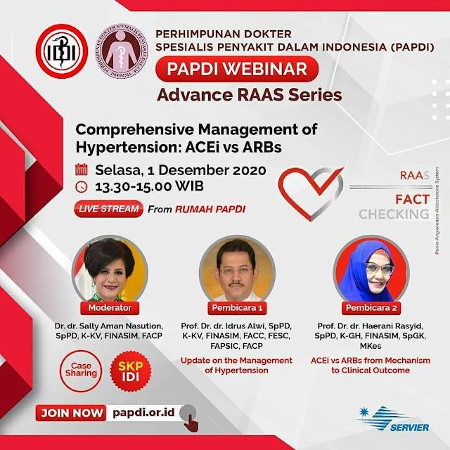 WEBINAR Comprehensive Management of Hypertension: ACEi vs ARBs