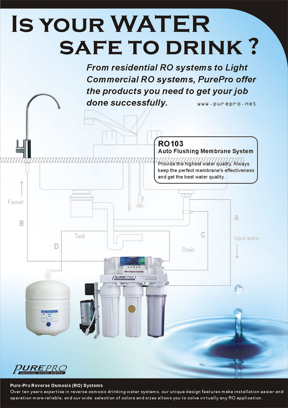 PurePro® RO103 Reverse Osmosis Pure Water Filtration System