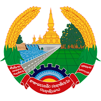 Logo Gambar Lambang Simbol Negara Laos PNG JPG ukuran 200 px