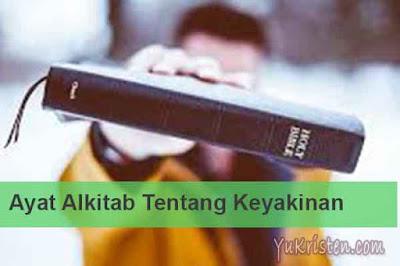 ayat alkitab tentang keyakinan
