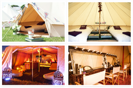 Hotel bell tent camp bestival luxury camping