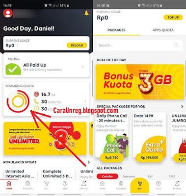Cara UNREG Pekt Internet Indosat Lewat Aplikasi myIM3