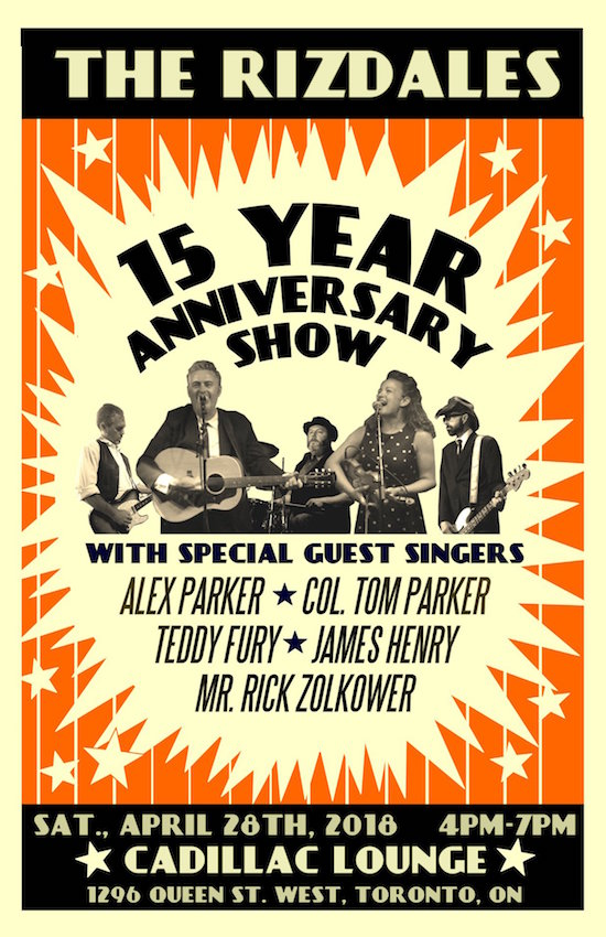 The Rizdales' 15th Anniversary @ Cadillac Lounge, April 28