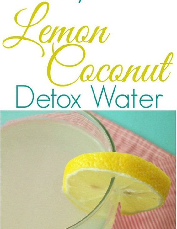 Lemon Coconut Detox Water