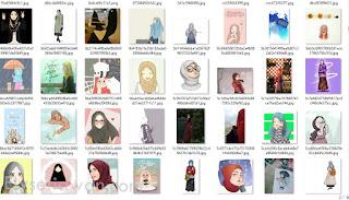 koleksi database foto profil muslimah cantik