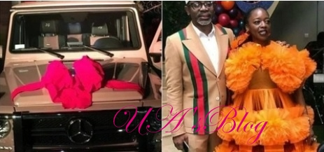 Gbajabiamila finally reveals how he got money to buy G-Wagon car gift for his wife.