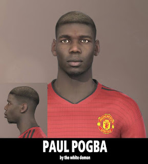 PES 2019 Faces Paul Pogba by Jarray & The White Demon
