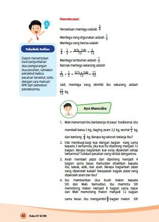 kunci jawaban senang belajar matematika kelas 4 kurikulum 2013 revisi 2018