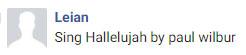 sing hallellujah request