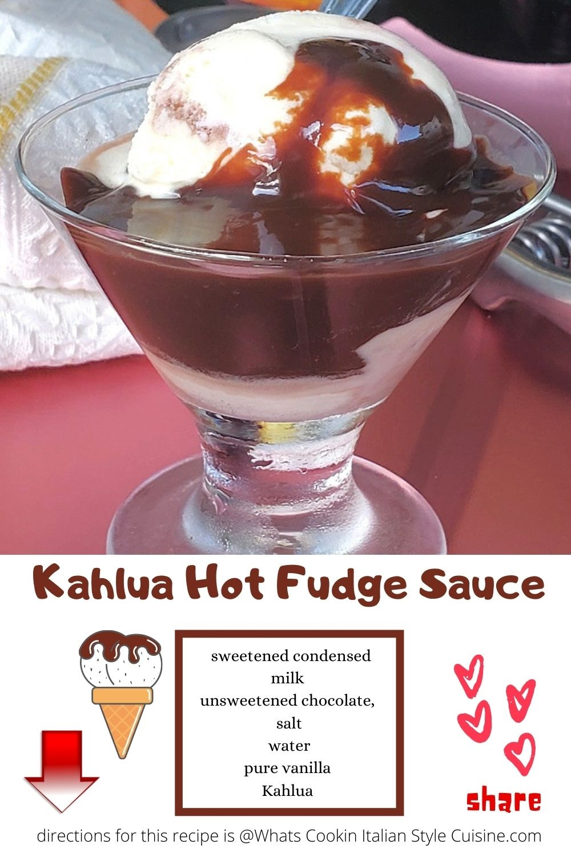 hot fudge sauce over ice cream