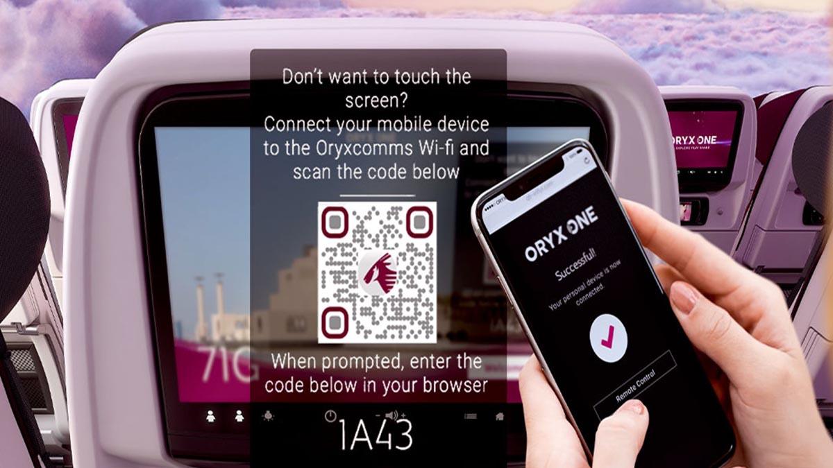 QATAR AIRWAYS TECNOLOGÍA TOUCHLESS SISTEMA ENTRETENIMIENTO 01