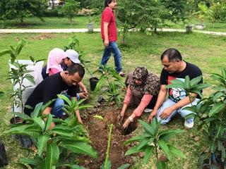Warga Banda Aceh Isi Ruang Terbuka Hijau Dengan Tanam Pohon