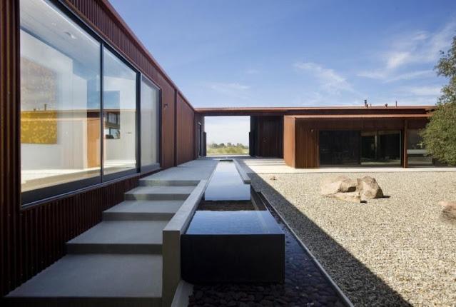 Minimalistisches Gewächshaus-Design