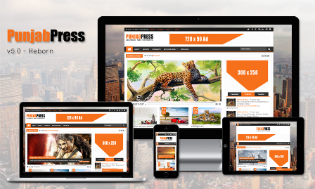 Punjab Press v5.0 - Template Blog Majalah Berita Free Premium