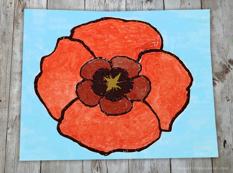 Georgia O Keeffe Poppy art for kids
