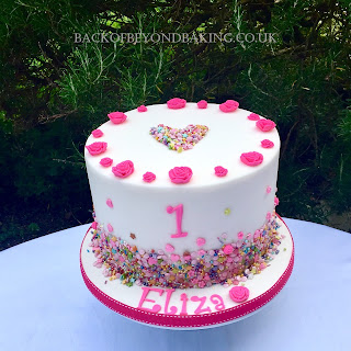 pink sprinkles birthday cake