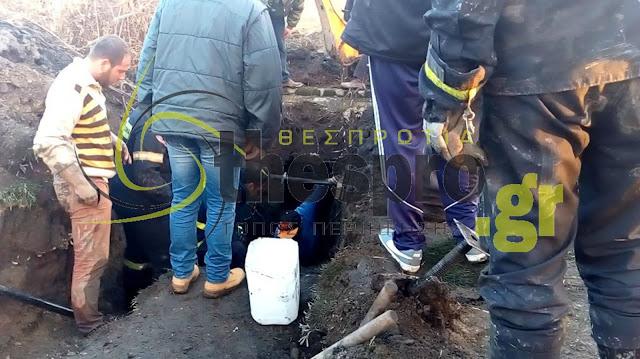 Δείτε αποκλειστικό βίντεο από την επιχείρηση απεγκλωβισμού του άτυχου εργάτη στην Ηγουμενίτσα