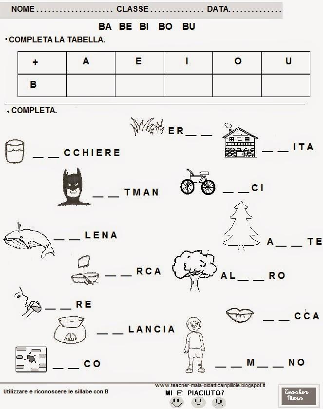 Favorito Teacher Maia- Il blog della maestra Maia: Schede didattiche per  RQ69