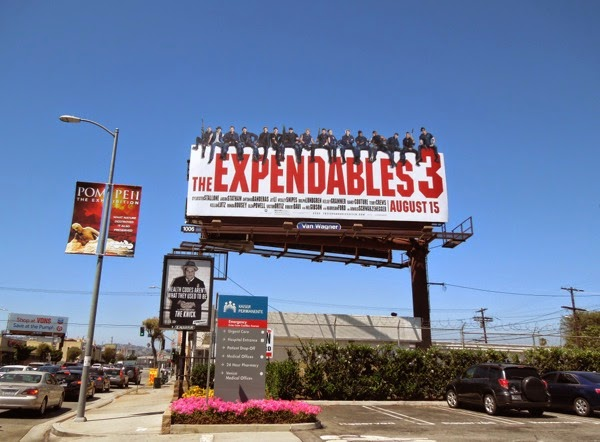 Expendables 3 special extension billboard