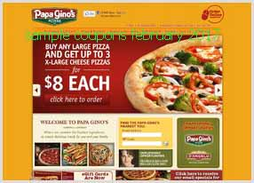 Papa Gino's coupons february
