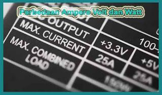 Mengenal Perbedaan Ampere Volt dan Watt
