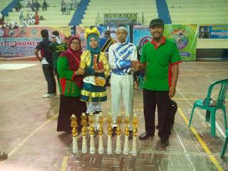 Berlaga Di Tingkat Karesidenan, Drumband MTs Muhammadiyah Yanggong Sabet 8 Trophy