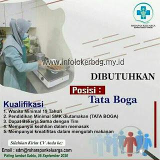 Info Loker Tata Boga RS Harapan Keluarga