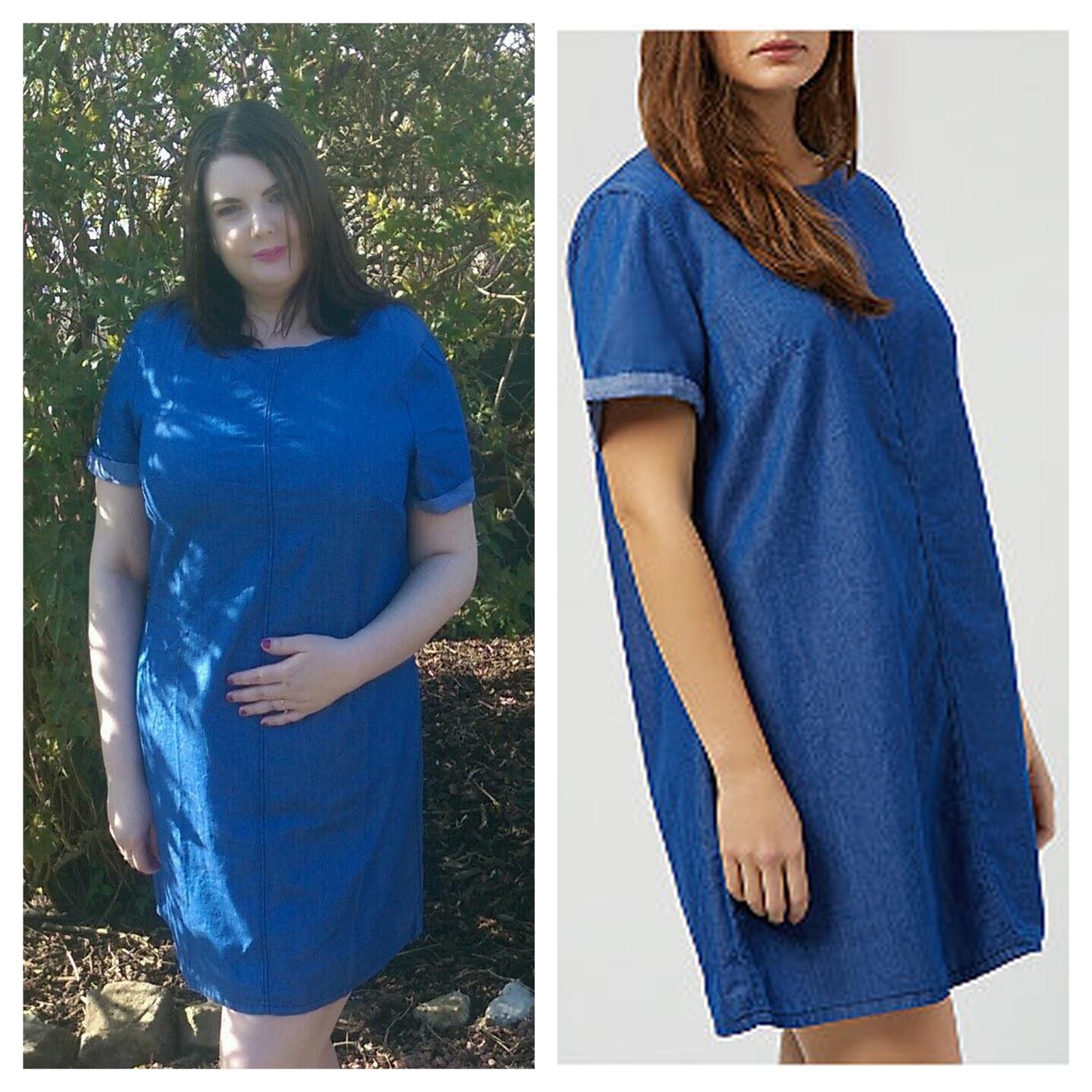 New Look Inspire Blue Denim Tunic Dress
