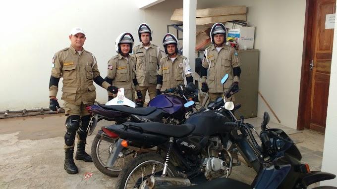 Moto roubada é recuperada por agentes de trânsito no centro de Chapadinha