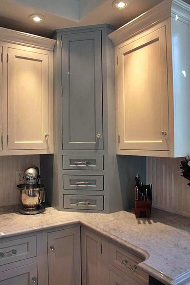 5 Choices Of Ideas To Overcome The Problem Of Corner Kitchen Cabinets Dream House