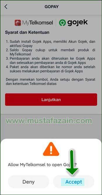 Cara Top Up Pulsa di MyTelkomsel Bayar Pakai GoPay